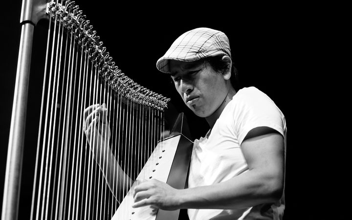 Edmar Castaneda on harp