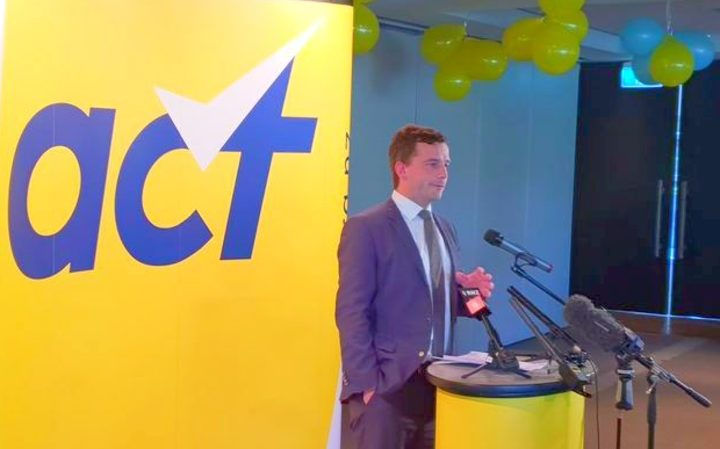 David Seymour addressing Act's conference in Auckland.