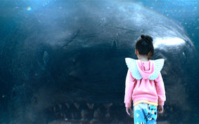 An image from the film, The Meg, which was largely filmed in New Zealand