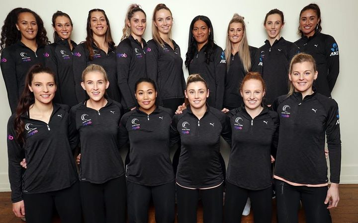 The Silver Ferns squad - August 2018