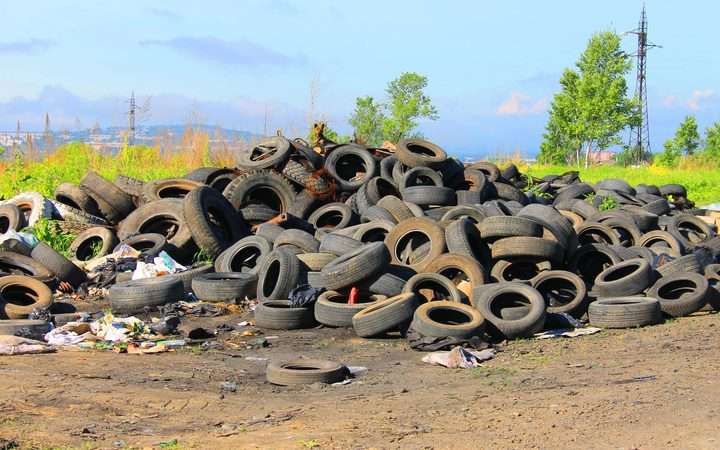 Old car tyres. (File)