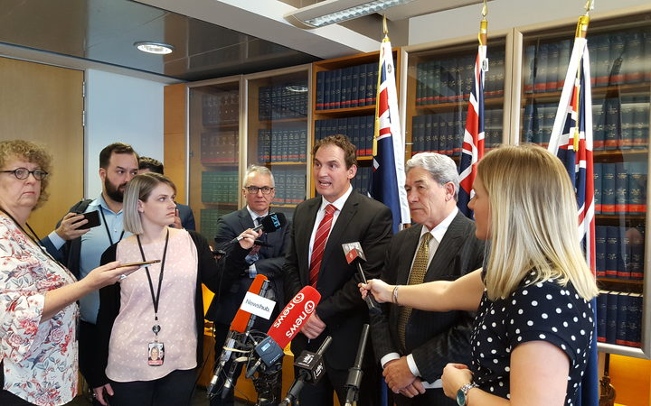 Police Minister Stuart Nash and NZ First leader Winston Peters discuss the allocation of 1800 police that came out of a coalition deal.