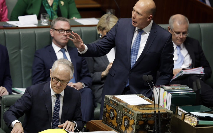 Peter Dutton and Prime Minister Malcolm Turnbull.