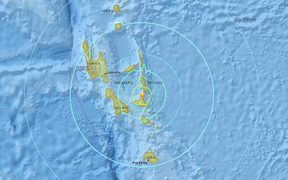 The 6.7 quake struck in the waters between Malekula and Ambrym.