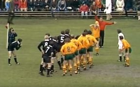 Wallabies and All Blacks in 1978.