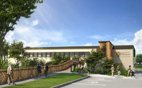 An artist's impression of the University of Otago dental teaching facility and patient treatment clinic.