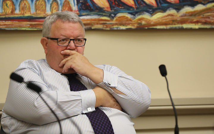 National MP Gerry Brownlee listening to evidence in Select Committee