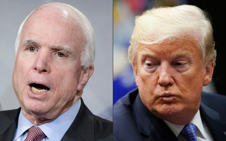 John McCain: White House urged to lower flags for senator
