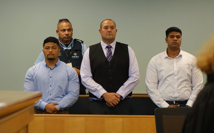 Desmond Fa'afoi (left), Wiremu Paitea (middle) and Viju Devassy (right).