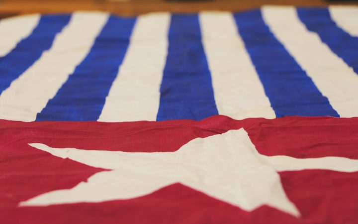 The Morning Star flag a symbol of the West Papuan Independence movement. It was first raised on 1 December 1961 prior to the territory coming under administration of the United Nations Temporary Executive Authority.