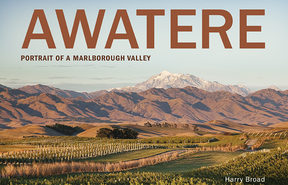 "cover of the book ""Awatere: Portrait of a Marlborough Valley""	by Harry Broad"