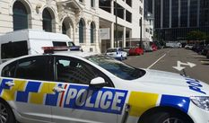 Police cars outside Wellington District Court on Tuesday 17 November