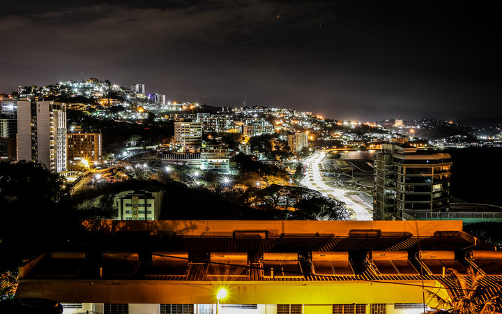 Port Moresby in PNG at night