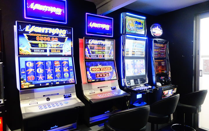 Poker Machines at the Mangere Cosmopolitan Club in South Auckland.