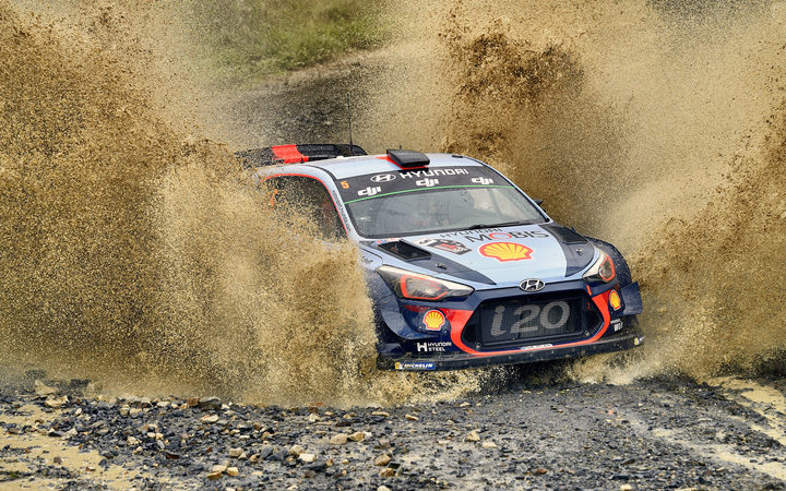 Thierry Neuville in the Rally of Australia