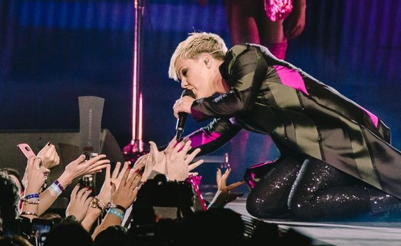 Pink performing in Perth