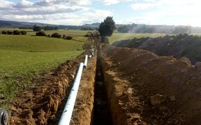 New pipeline installed between the Ōamaru Water Treatment Plant south to Hampden.