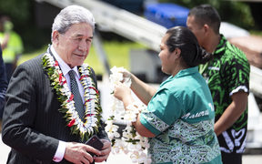 Deputy Prime Minister Winston Peters arrives at Nauru Airport on a RNZAF jet for the Pacific Islands Forum. 3 September 2018.