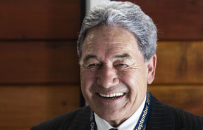 Deputy Prime Minister Winston Peters speaks to NZ media on arrival in Nauru for the Pacific Islands Forum.