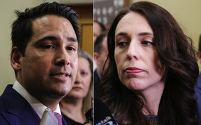 National party leader Simon Bridges and Prime Minister Jacinda Ardern.