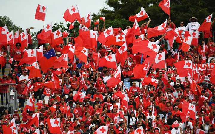 Tongan fans turned out in force at Mount Smart Stadium during the Rugby League World Cup.