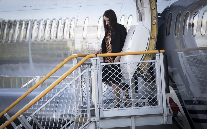 NZ Prime Minister Jacinda Arden arrives in Nauru early this morning on the RNZAF 757 for the Pacific Island Forum.