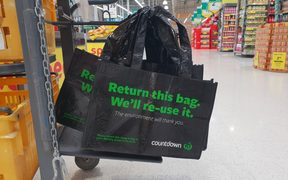 Countdown Manurewa has brought in two options for customers to use as the single-use plastic bag ban comes into force.
