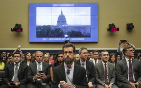 Twitter CEO Jack Dorsey and Facebook chief operating officer Sheryl Sandberg faced questions about how foreign operatives use their platforms in attempts to influence and manipulate public opinion.