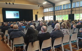 Mycoplasma bovis meeting, Dargaville Memorial Hall.