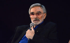 "HOLLYWOOD, CA - MARCH 22: Actor Burt Reynolds speaks during a Q&A session at the Los Angeles premiere of ""The Last Movie Star"" at the Egyptian Theatre on March 22, 2018 in Hollywood, California.   Michael Tullberg/Getty Images/AFP"