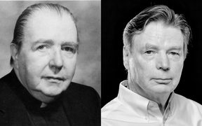 An uncanny likeness? Father Thomas Sullivan, left, and Jim Graham, who had the priest's body exhumed to prove it's his father.