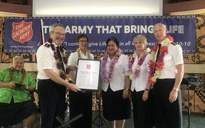 Salvation Army welcomed in Samoa.