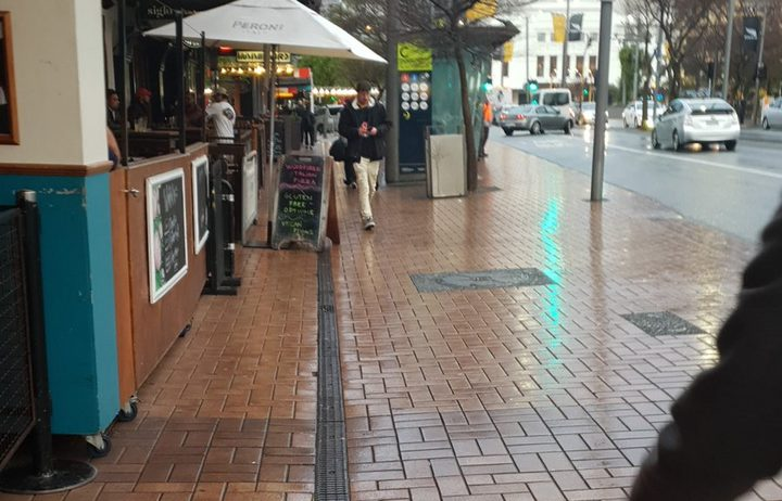 The terracotta-coloured tiles line Wellington's Golden Mile, which runs from Courtenay Place to Manners Street, Willis Street and Lambton Quay.