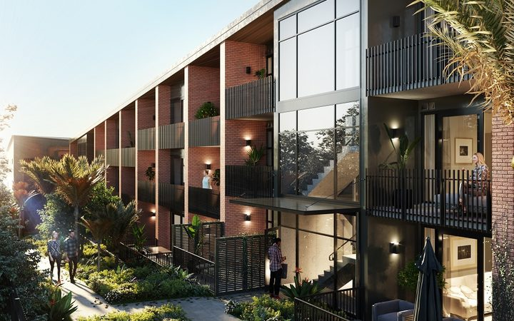 Artists' impression of the apartments in the @340 Onehunga development