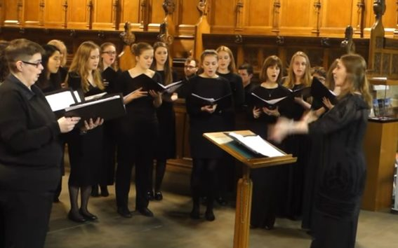 Glasgow University Chapel Choir directed here by Katy Lavinia Cooper.