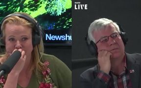 Radio Live's Trudi Nelson and panelist Robert Reid react to Don Brash dissing the haka down the line.