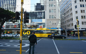 Traffic on Lambton Quay.