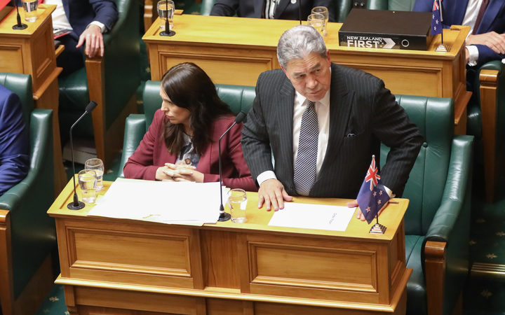 Jacinda Ardern and Winston Peters in the House