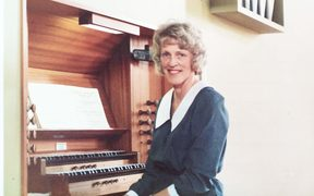 Organist Betty Black at the Royal College of Music