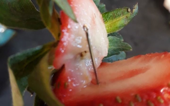 Needles found in New Zealand strawberries