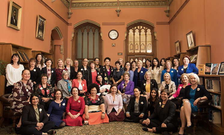 NZ's female MPs gathered together today to mark Suffrage Day