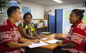 A group working on foreign aid strategy in Solomon Islands.