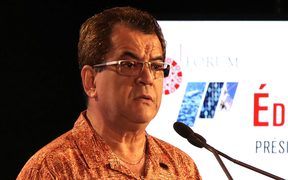 French Polynesia's president Edouard Fritch addresses inaugural Economic Forum