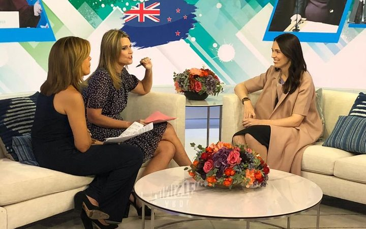 Jacinda Ardern appeared on NBC's Today Show.