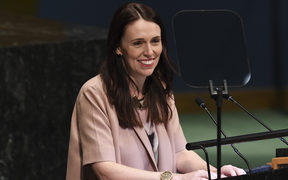 PM Jacinda Ardern addresses the Nelson Mandela Peace Summit at the United Nations in New York