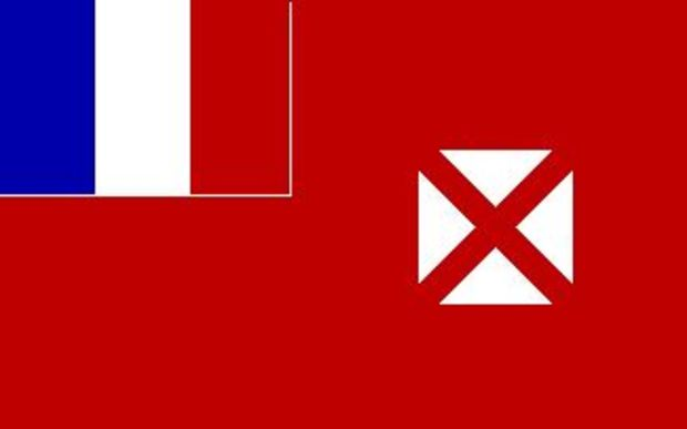 The official flag of the French overseas territory of Wallis and Futuna.
