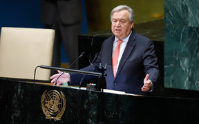 Antonio Guterres Secretary-General of the United Nations at the opening of the 73rd Session of the UN General Assembly at the United Nations headquarters in New York on Tuesday,