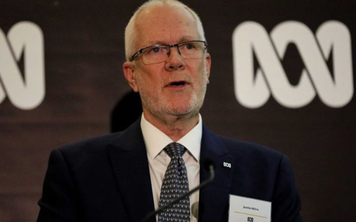 Justin Milne speaking at a ABC event.