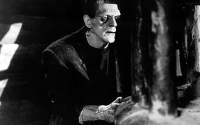Boris Karloff playing Dr Frankenstein's creation in the 1931 adaption of Mary Shelley's novel