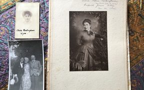 A collection of photos of suffragist Clara Alley